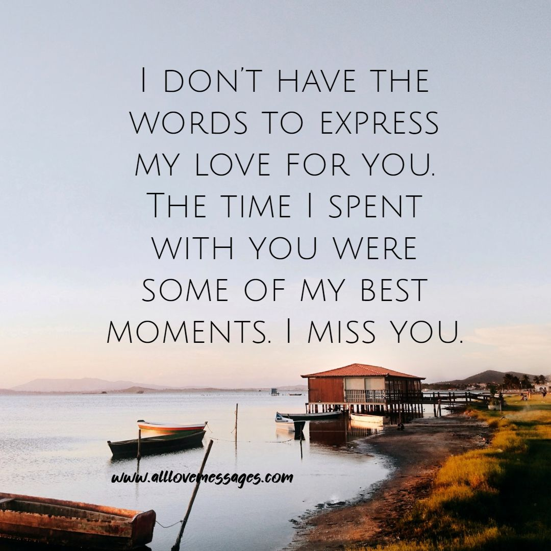 55 Romantic Missing You Message to My Love
