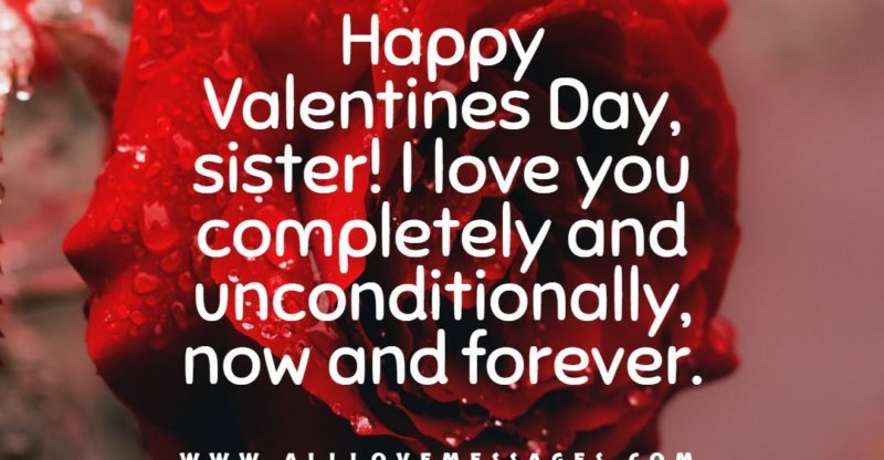 42 Valentines Day Messages For Sister